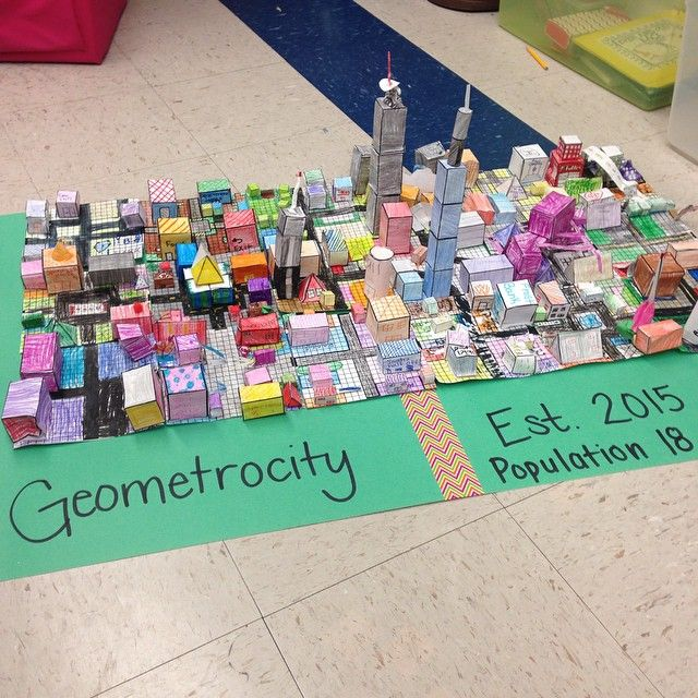 Geometrocity - A city made of math  | Teaching Math | Math, Math