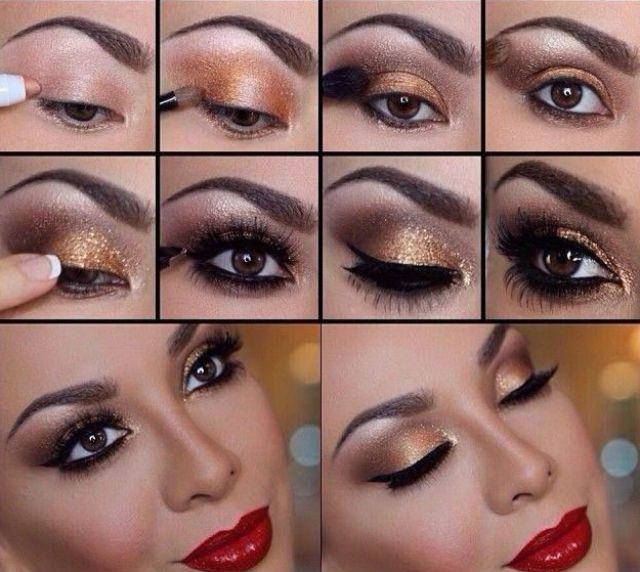 e47410832 Maquillaje para vestido rosa palo y negro