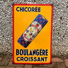 ancienne rare plaque emaillee chicoree boulangere croissant plaques emaillees. Black Bedroom Furniture Sets. Home Design Ideas