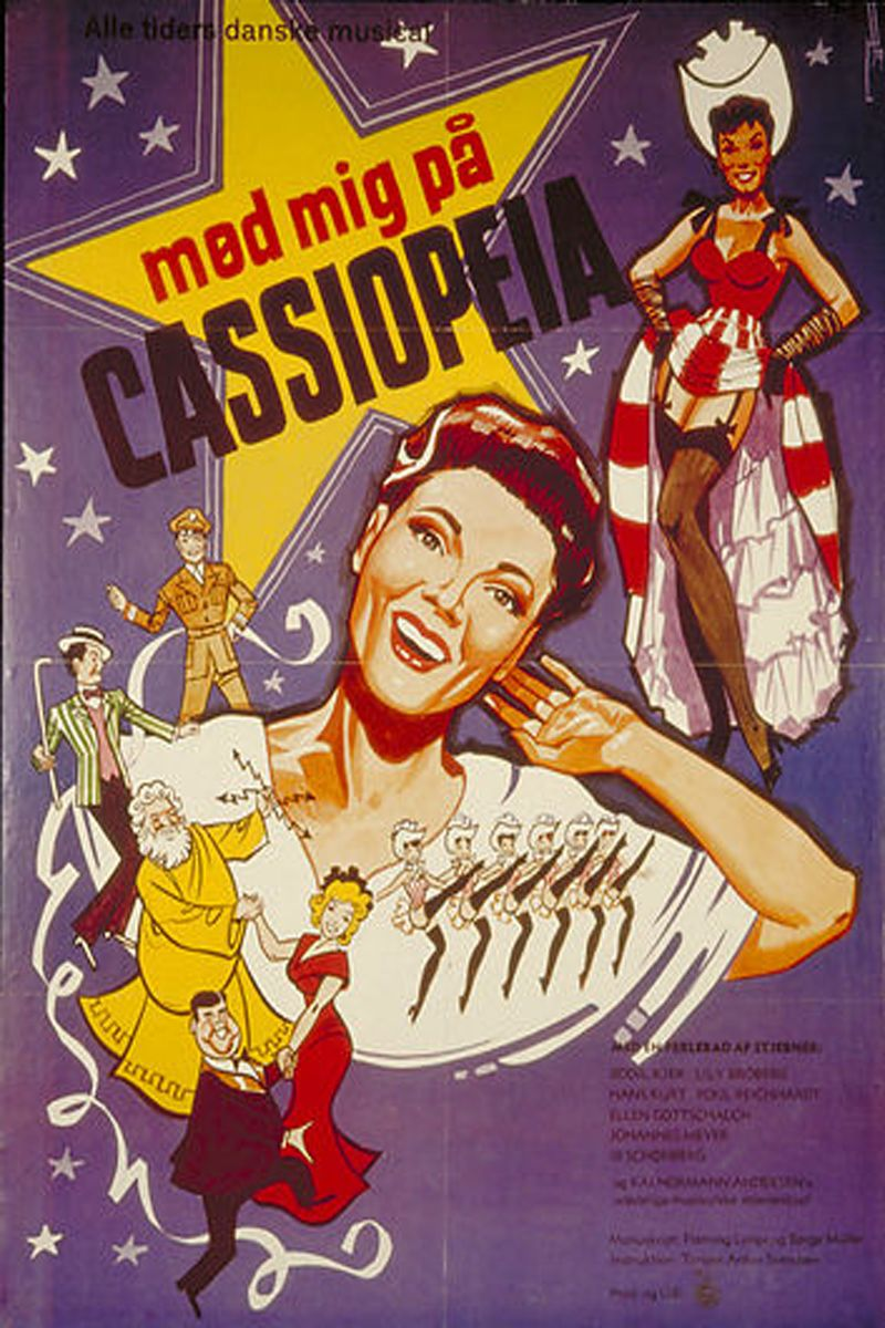 December 2018 Torben Anton Svendsen Mod Mig Pa Cassiopeia 1951 Danmark Bodil Kjer Lily Broberg Gamle Film Genre Film Plakat