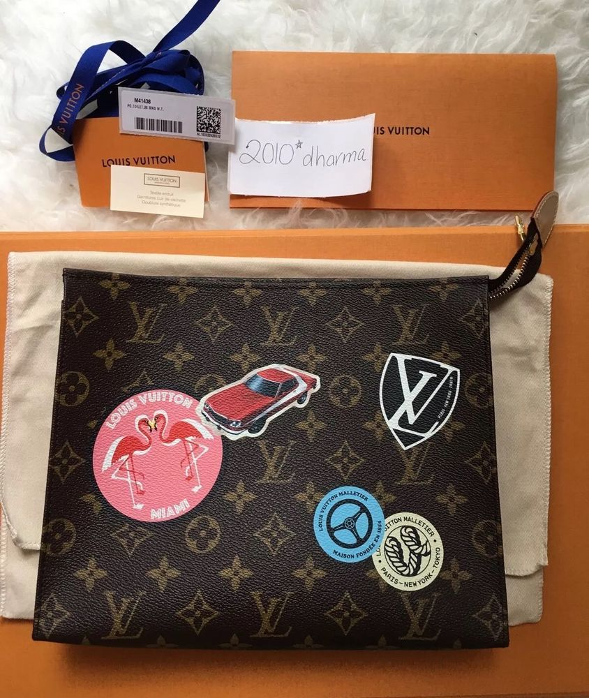 8e64f8c5a0ec Louis Vuitton Toiletry Pouch 26 World Tour Limited Edition Pouchette   LouisVuitton  Clutch
