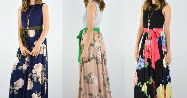 Floral Maxi Dress With Sash Just $29.99 From Jane!