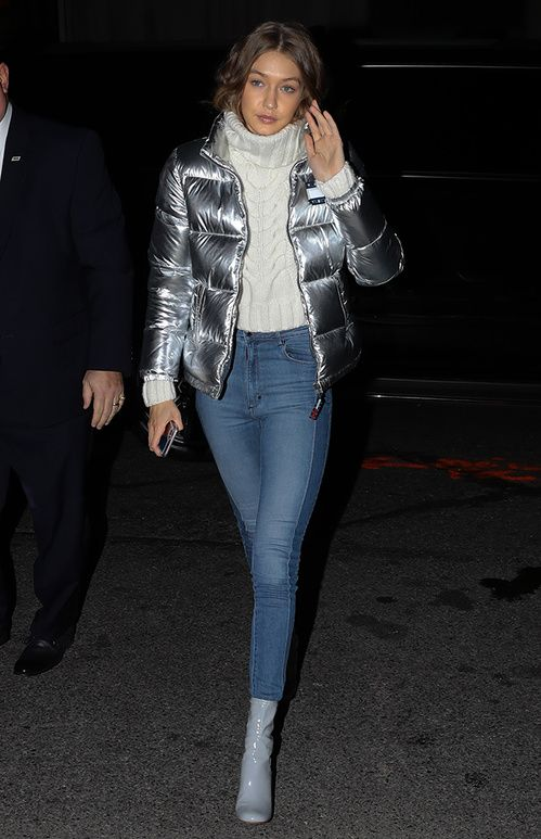 44acd02bb2e6 Kendall Jenner s winter warmer  the padded jacket goes pop