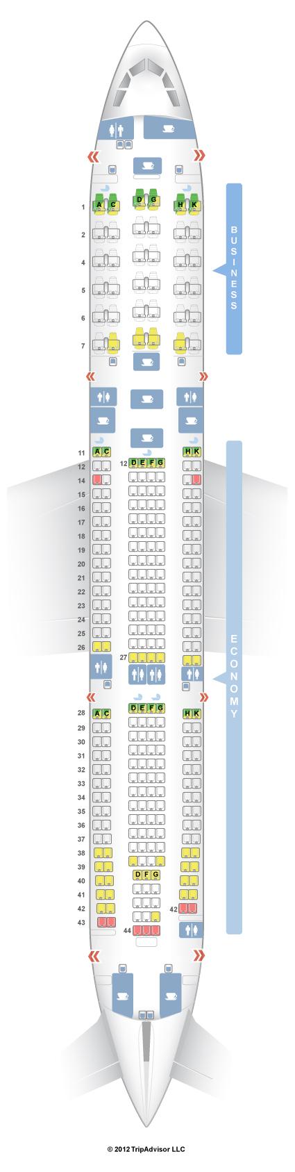 Seatguru Seat Map Malaysia Airlines Airbus A330 300 333