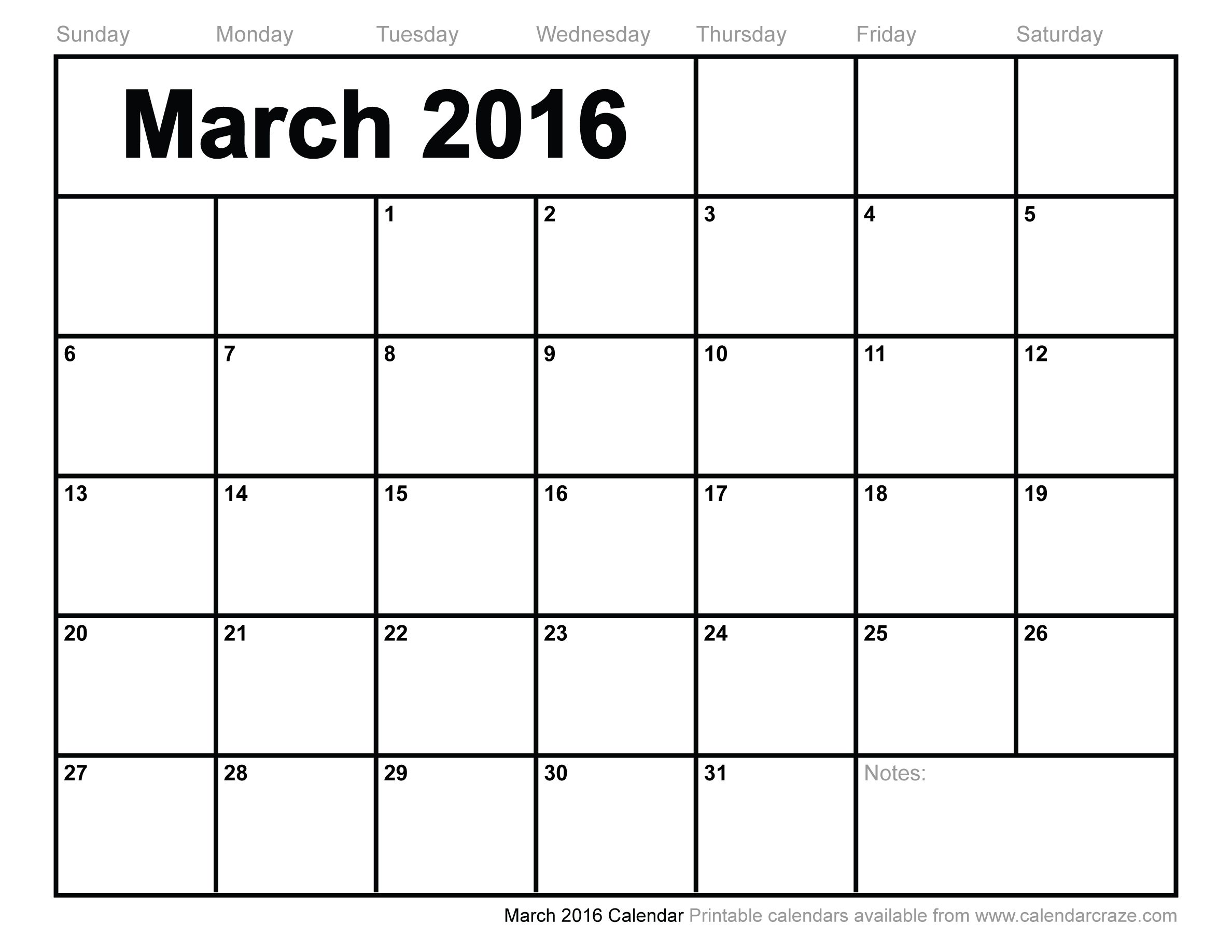 mar 2016 calendar printable pdf - Google Search | Recipes to Cook ...