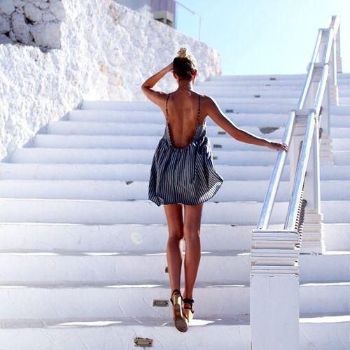 In a little dress in Greece
