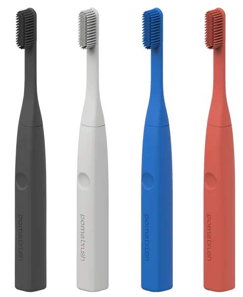 Pomabrush Innovative Silicone Electric Toothbrush Toothbrush Design Brushing Teeth Electric Toothbrush