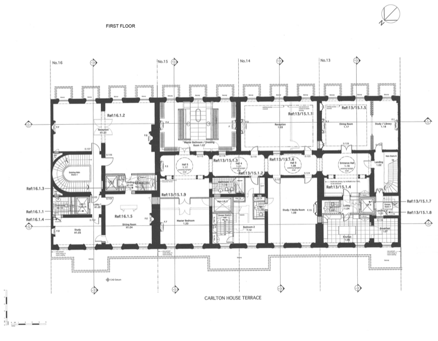 Floor Plans To 13 16 Carlton House Terrace In London England Floor Plans Carlton House How To Plan