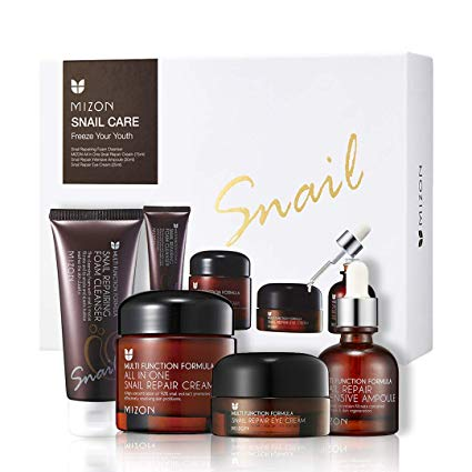 Mizon Snail Care Freeze Your Youth Set All In One Snail Repair Cream 75ml Snail Repairing Foam Cleanser 60m Skin Care Gifts Skincare Gift Set Repair Cream
