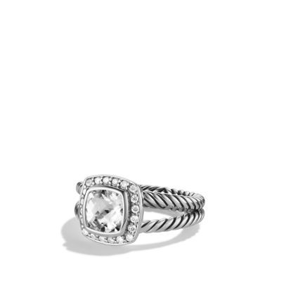 057b6747f418d Petite Albion Ring with Diamonds, 7mm Gemstone | j e w e l s | White ...