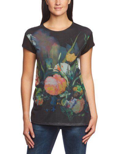 Tigerhill - Camiseta con estampado floral de manga corta para mujer #camiseta #friki #moda #regalo