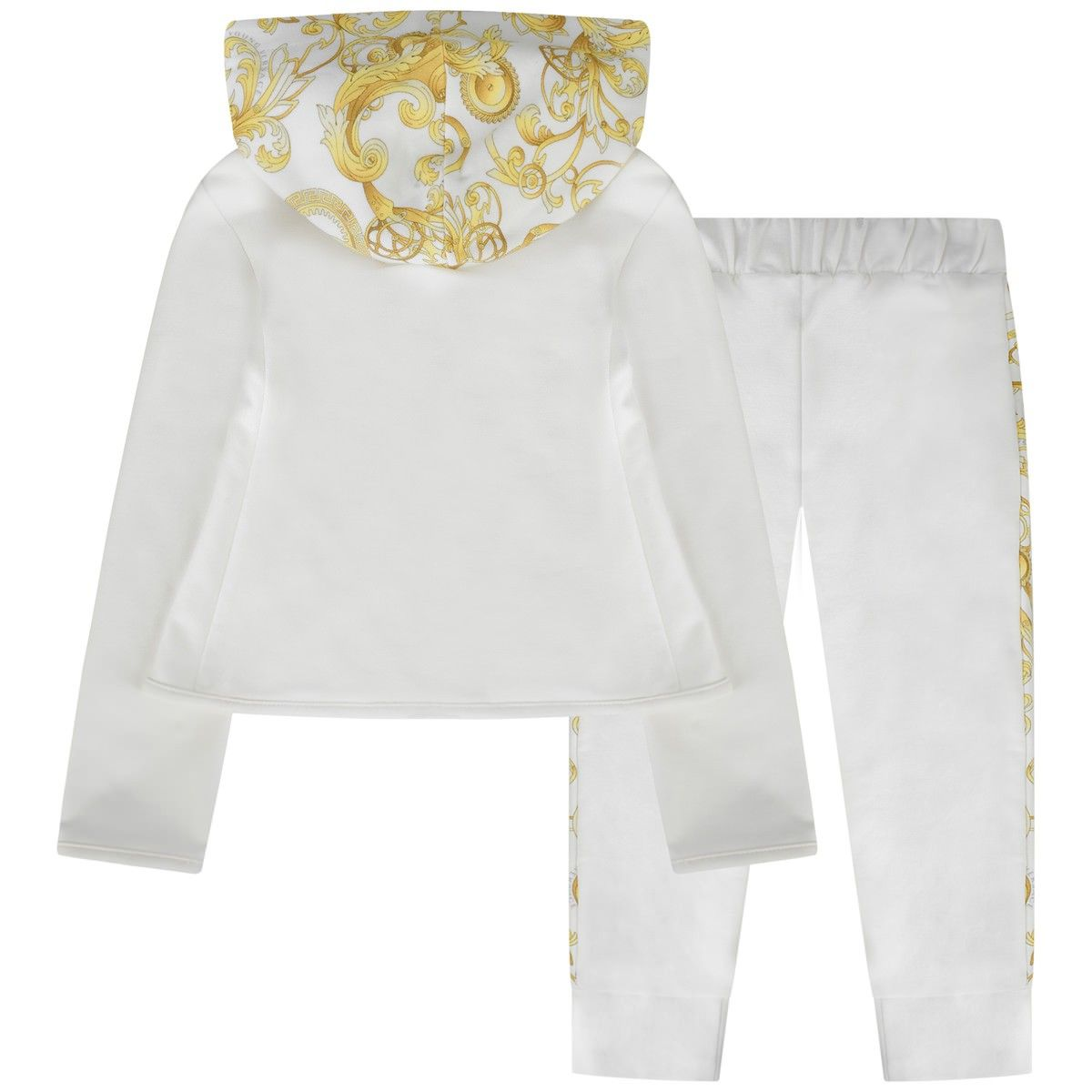shopping closer at order online Young Versace girls ivory tracksuit featuring the gold ...