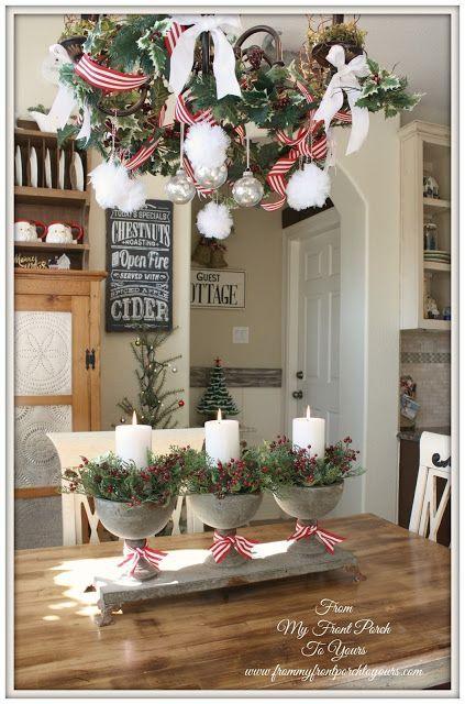 Christmas Time French Farmhouse Kitchen