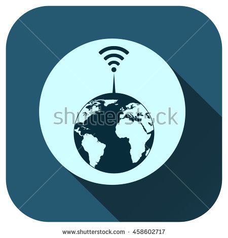 Network globe icon - stock vector