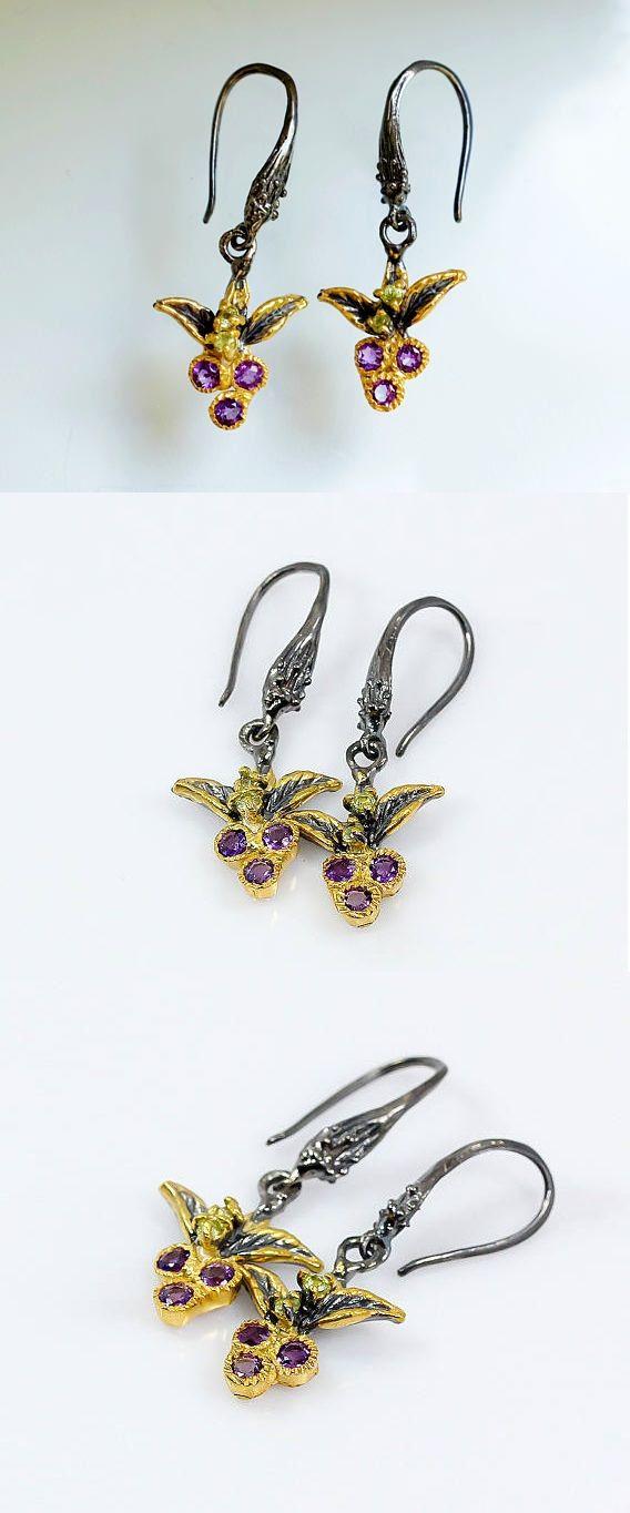 Berry Jewelry Floral Dangle Earrings 5LsjwFim