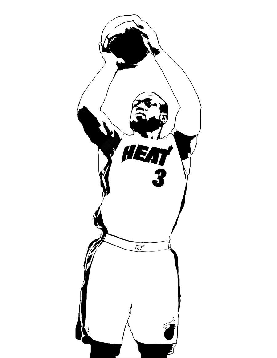 dwyane wade coloring pages dwyane wade colouring pages page 2