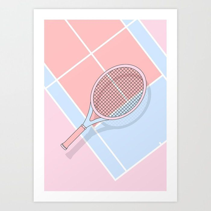 Buy Hold My Tennis Racket Art Print By Hannakl Worldwide Shipping Available At Society6 Com Just One Of Millions Tennis Racket Art Tennis Art Tennis Drawing