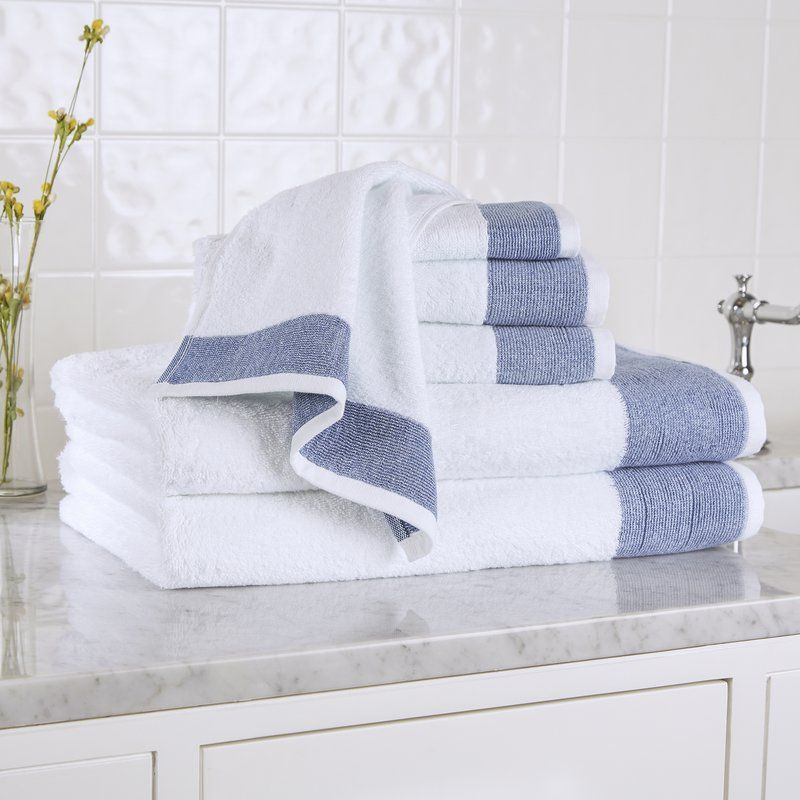 Claudine 6 Piece Towel Set Turkish Cotton Towels Towel Set Turkish Cotton Beach Towel