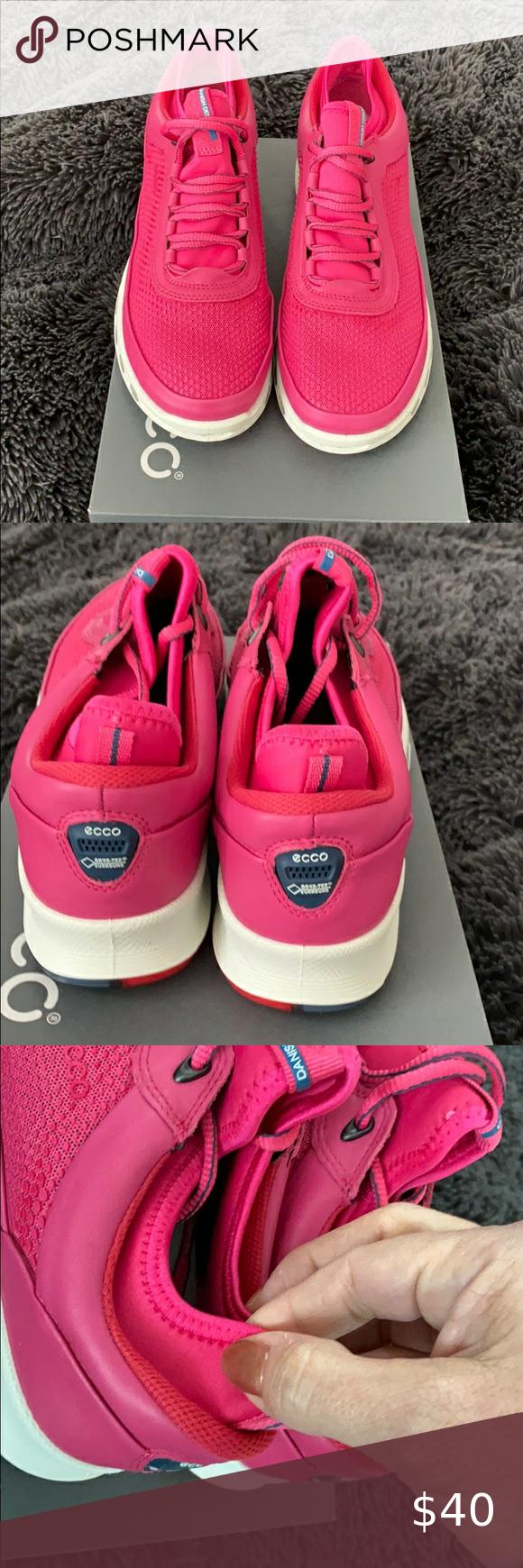 Ecco women 9-9.5 pink sneakers beetroot