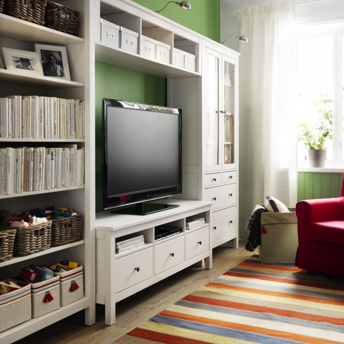 HEMNES- solid wood, naturally timeless. | Ikea living room ...