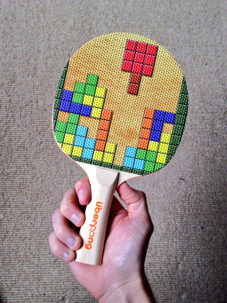 Tetris Design On Custom Made Ping Pong Bat Uberpong Pingpong Tabletennis Nintendo Giftidea
