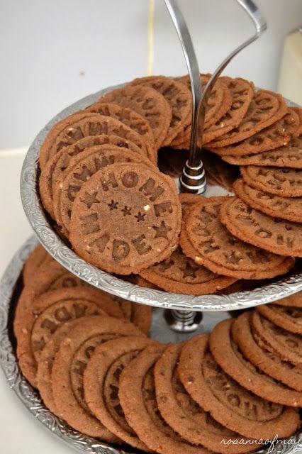 Homemade- cookie stamper (recipe in finnish)