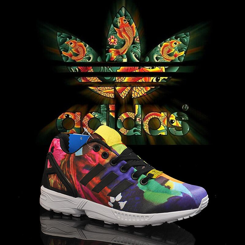 new concept 2af6f f8f7c ... inexpensive running shoes adidas originals zx flux peony rainbow purple  black 9309c eb35b
