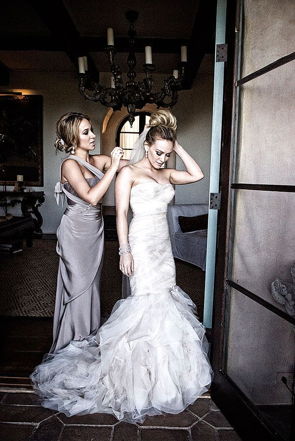 44 Most Stunning Celebrity Wedding Dresses of All Time | Hilary duff ...