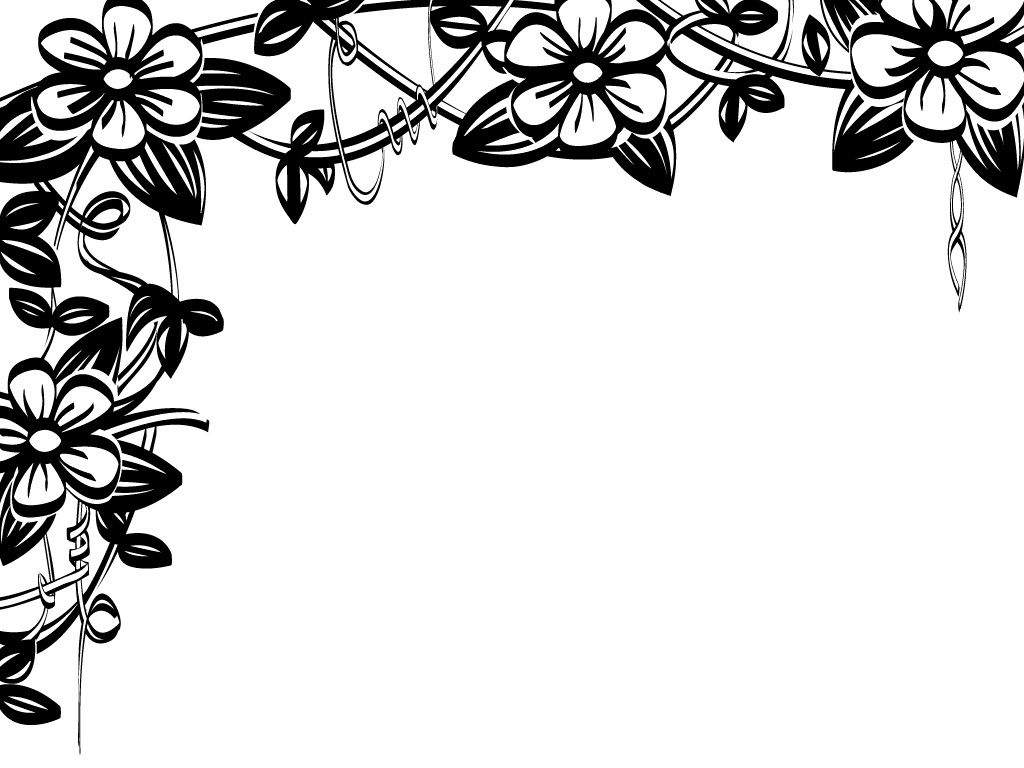 flower border black and white flower clip art flower border