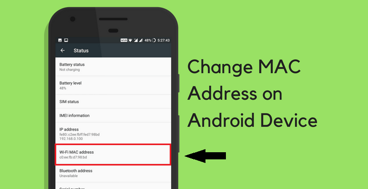 How To Change Mac Address In Android Devices Without Root Mac Address Mac Devices