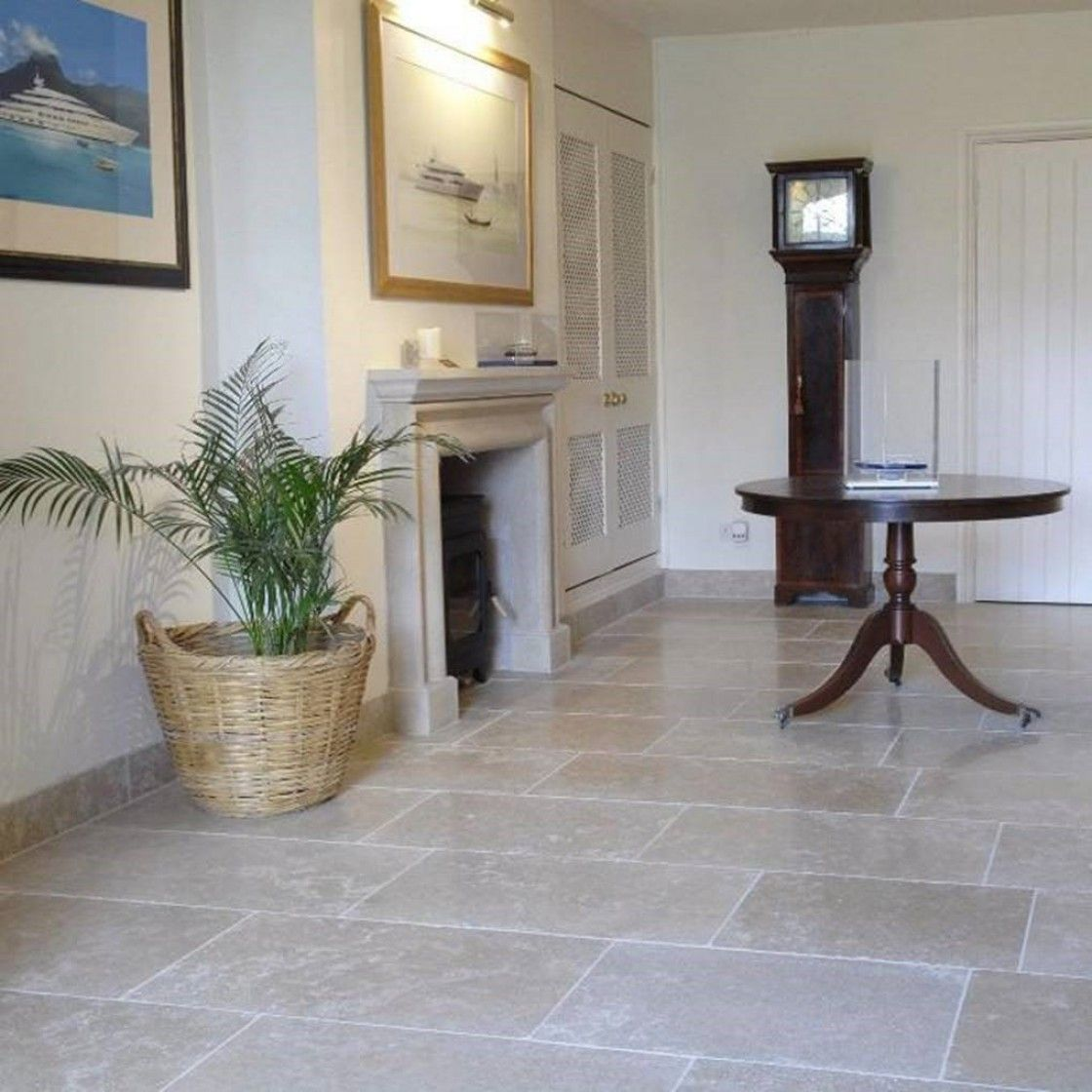 Dijon Tumbled Limestone within a living area setting | Indoor living ...
