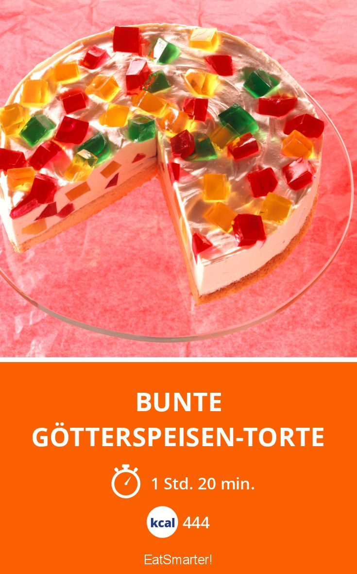 Bunte Götterspeisen-Torte