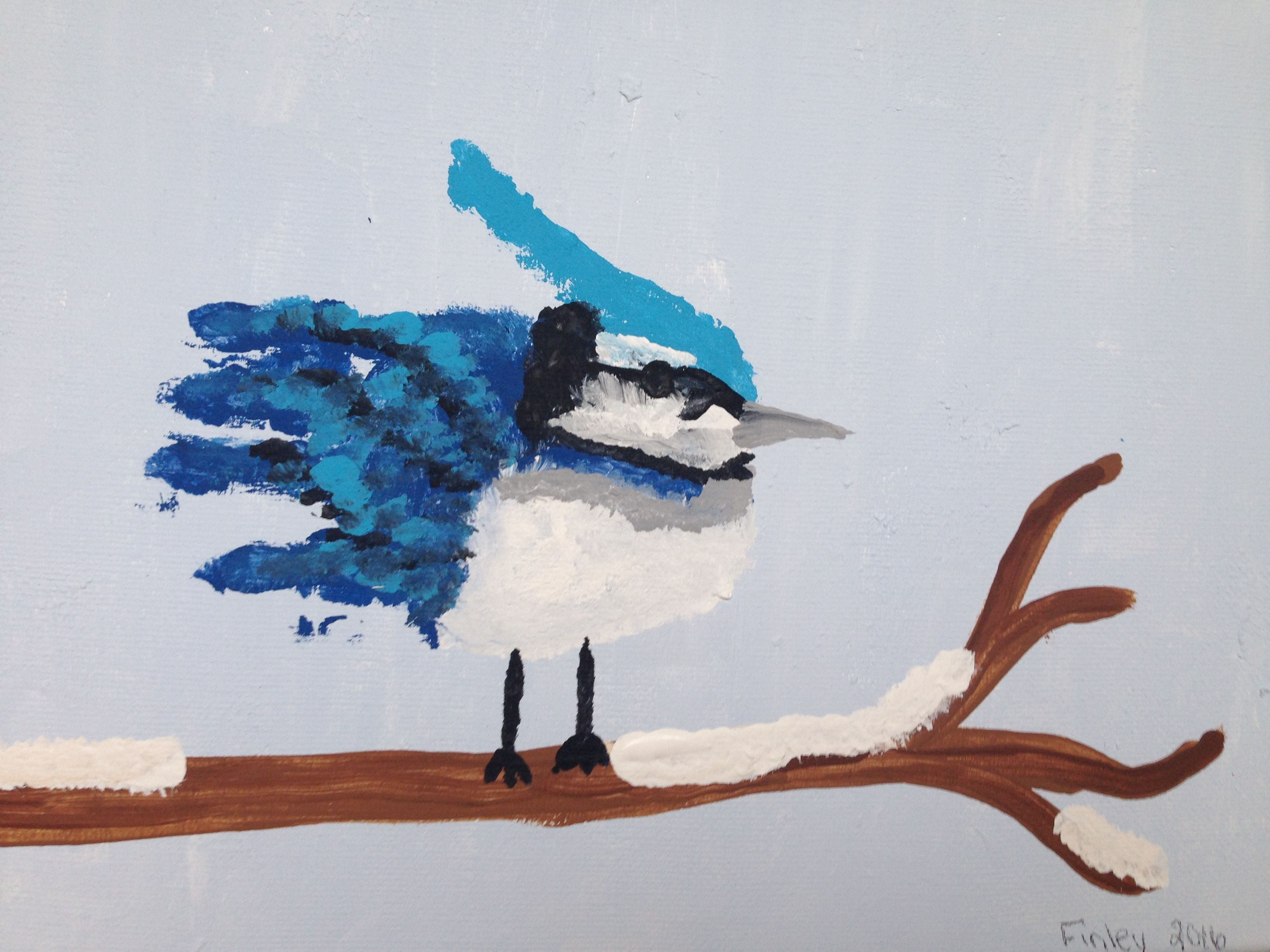 Blue Jay handprint art | Art ideas | Pinterest | Handprint art ...