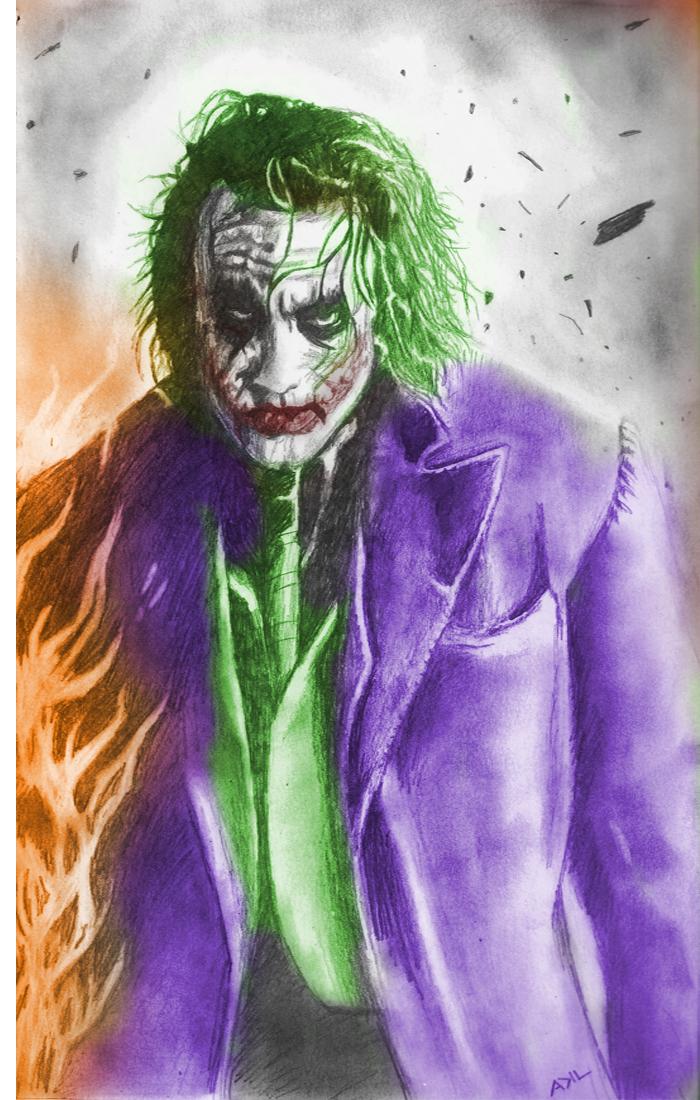 The Joker - Coloured by kill312@deviantART