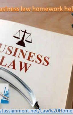 business law homework help