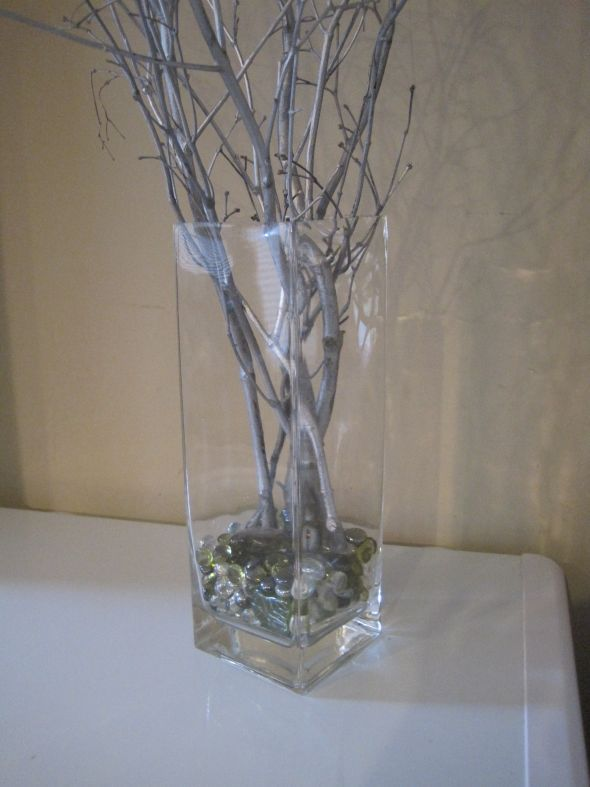 Centerpieces with branches for weddings wedding silver for Twig centerpieces for weddings