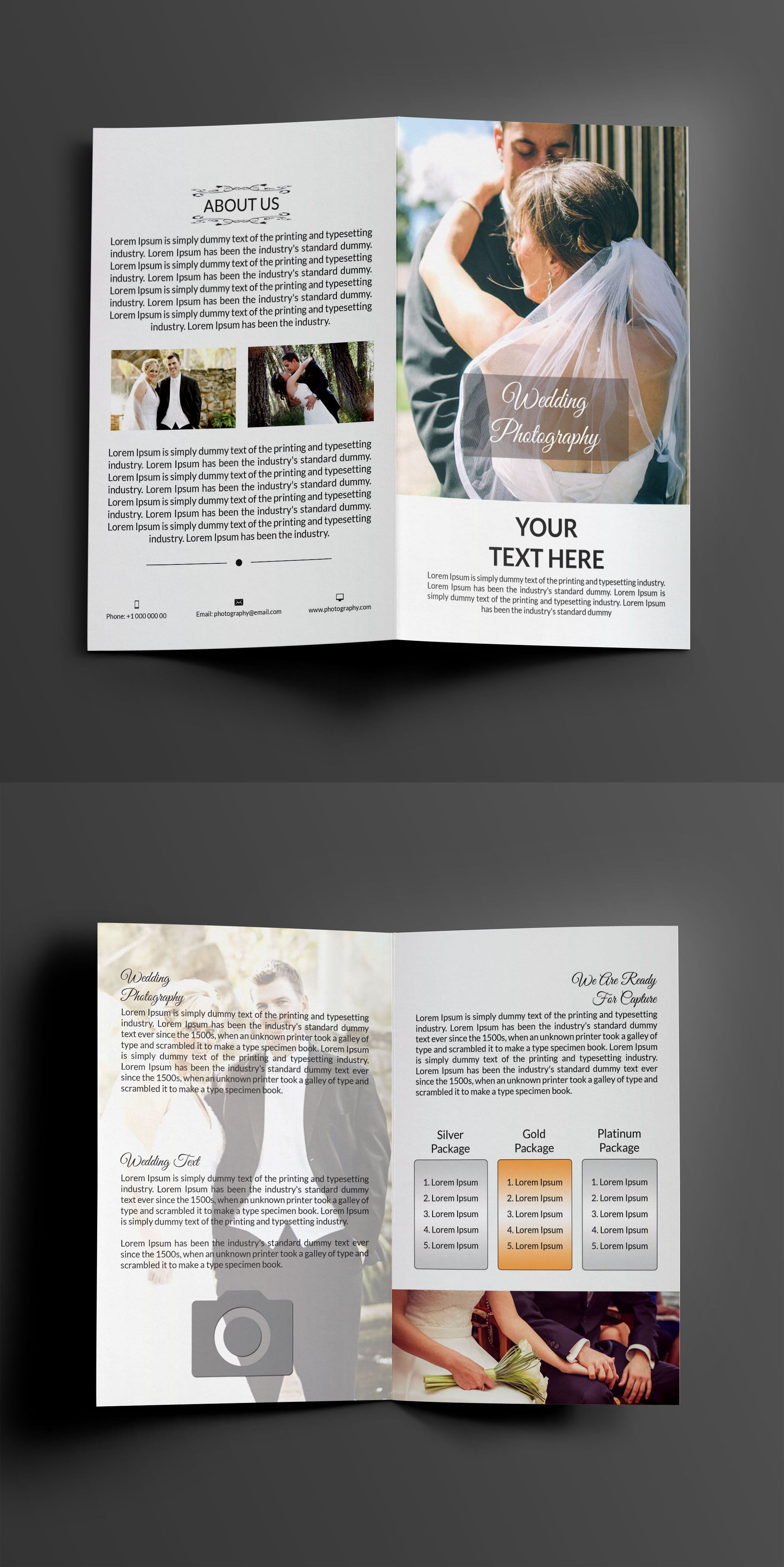 """Check out this @Behance project: """"Sample Wedding Photography Bi-fold ..."""