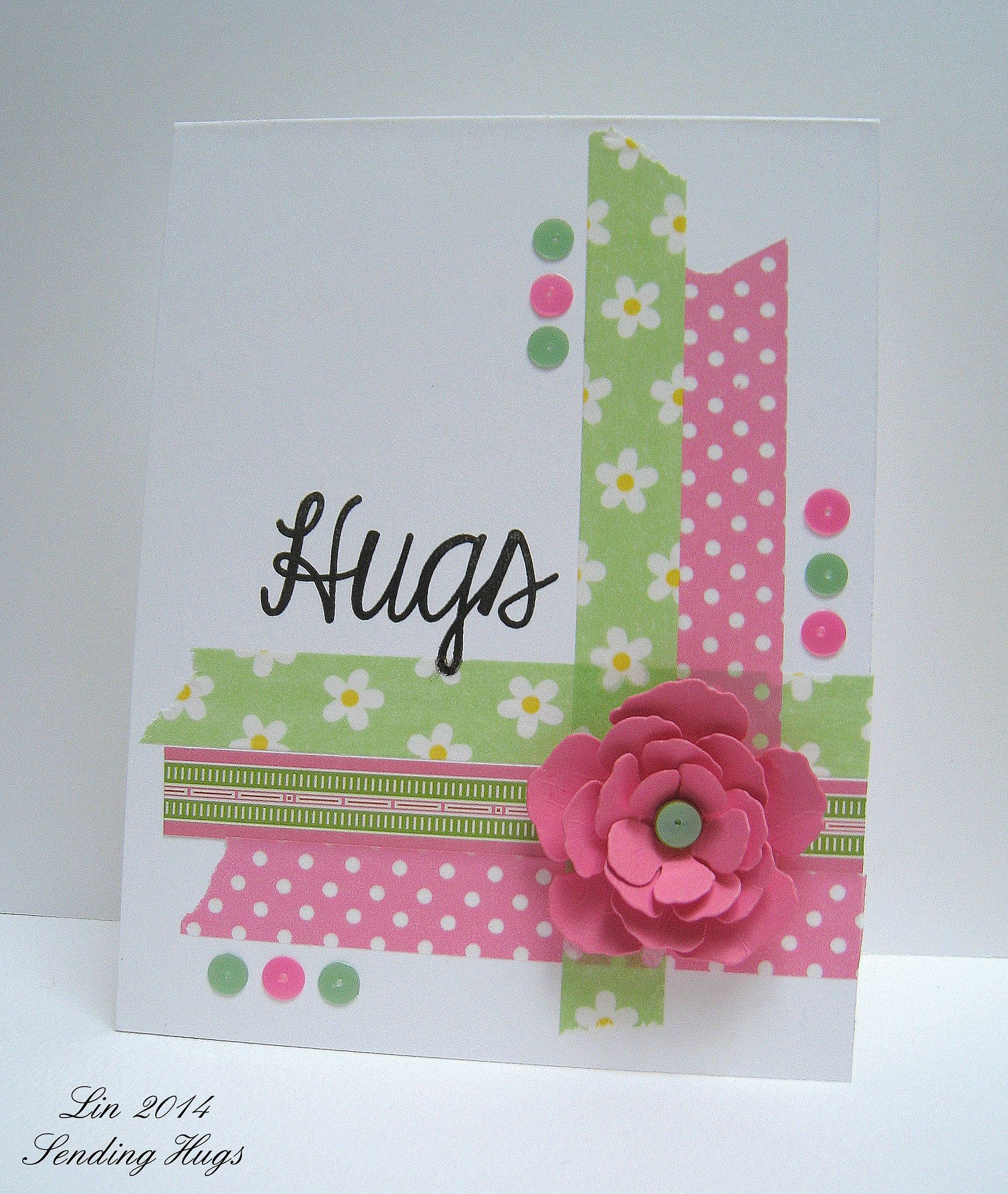 Sss May 28 Hugs With Images Cards Handmade Washi Tape Cards
