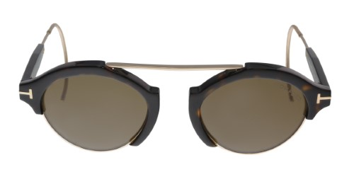 4e5f7a4bf12 Tom Ford FT0631 52J Farrah-02 Dark Havana Gold Round Sunglasses ...