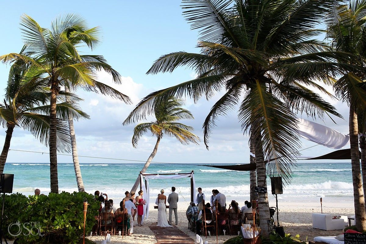Beautiful Venue For A Beach Wedding In Paradise At The Ana Y Jose Club Tulum Mexico Photographers Del Sol Photography