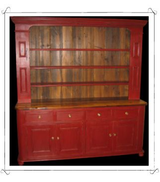 Kitchen Hutch In Red