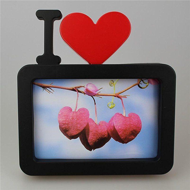 Ich liebe dich Foto-Rahmen Red Heart Shaped mit einem Bild 6x4\