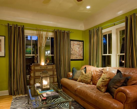 Living Room Green Wall Design, Pictures, Remodel, Decor and Ideas - wohnzimmer brauntone