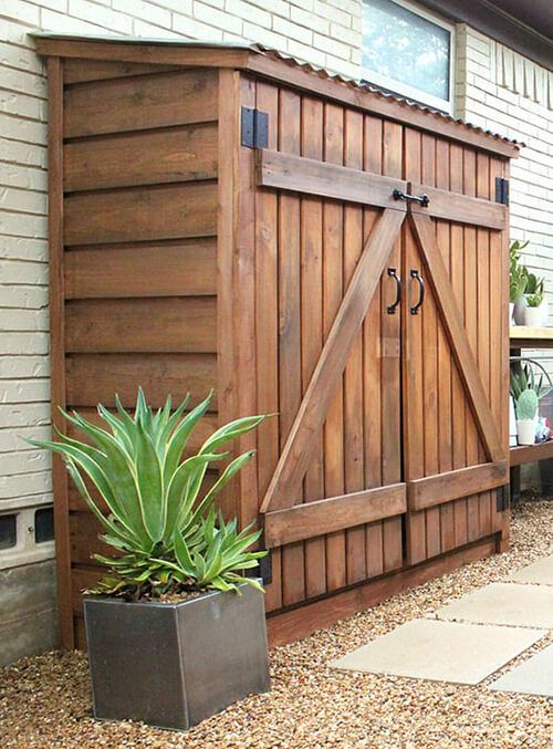 patio storage ideas shed