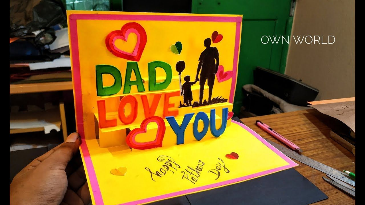 Beautiful Birthday Greeting Card Idea Diy Birthday Pop Up Card Father S Day Card Youtube Dad Birthday Card Diy Birthday Cards For Dad Greeting Cards Diy