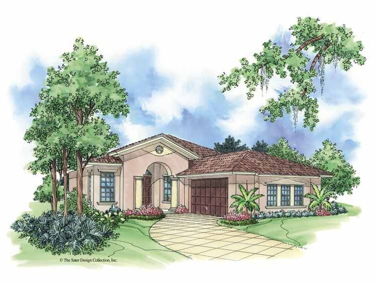 Eplans Mediterranean House Plan Outdoor Living at Its Best 1281
