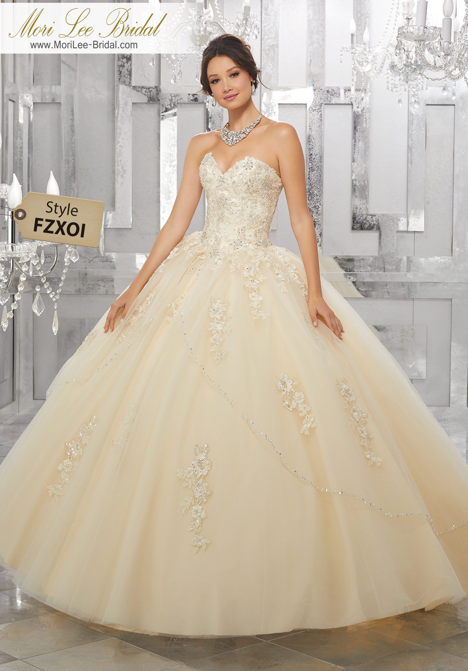 Style fzxoi crystal beaded embroidered lace appliqués on a princess