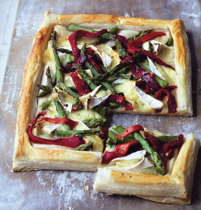 British Brie and Asparagus Tart