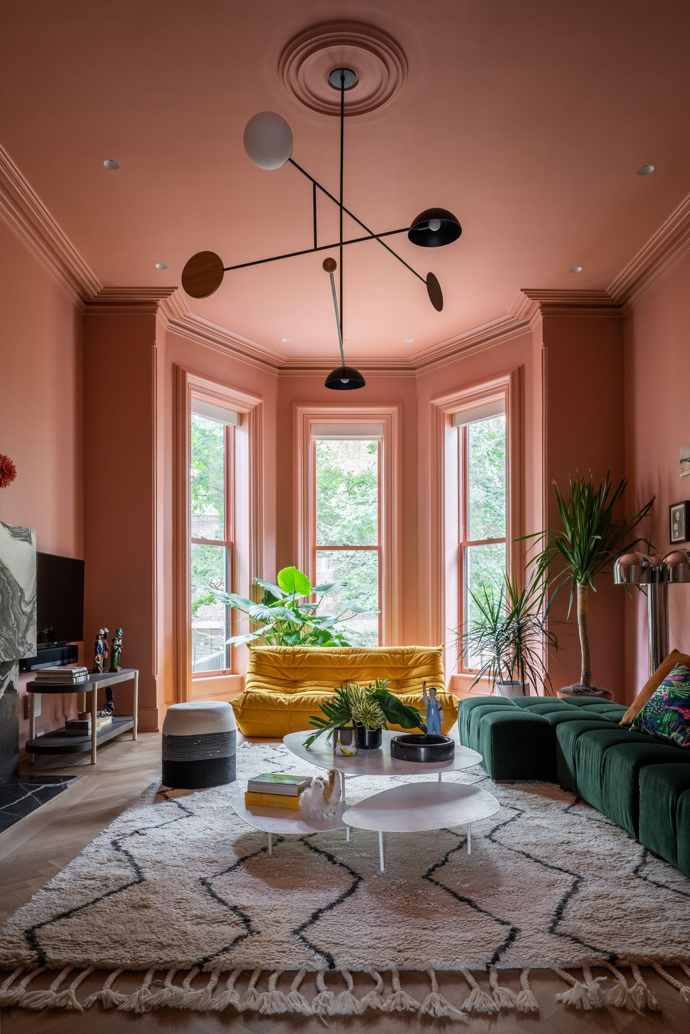 A Colorful Townhouse With Nods To James Turrell Brooklyn Brownstone Brownstone Interior