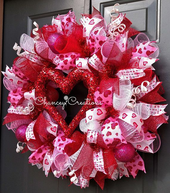 Valentine Wreath Valentines Day